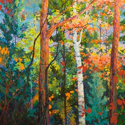 Autumn Breeze  - 4ft x 4 ft
