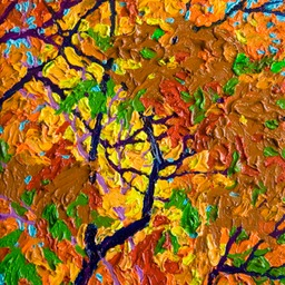 "Autumn Fire Santa Fe - 9"" x 12"""