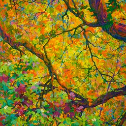 "Balaams Wood Autumn Dance - 46"" x 40"""