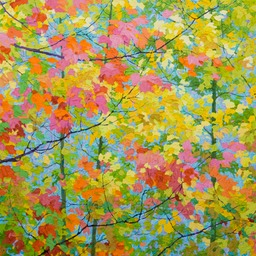 "Blue Sky in Autumn - 46"" x 46"""