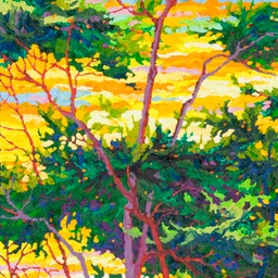 "Cypress at Pebble Beach II - 32"" x 14"""