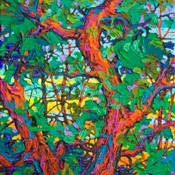 "Gaze - Alizarin Sunset  - 14"" x 11"""