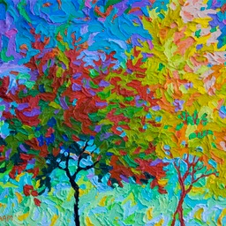 "Gaze - Autumn Celebration I - 11"" x 14"""