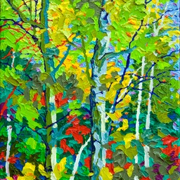 "Gaze - Evening Aspens IV - 14"" x 11"""