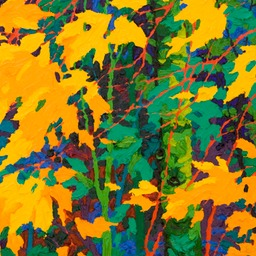 "Gaze - Leaf Lightening IV - 14"" x 11"""