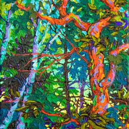 "Gaze - Turquoise Twilight  - 14"" x 11"""