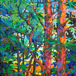 "Gaze - Ultramarine Sunset  - 14"" x 11"""