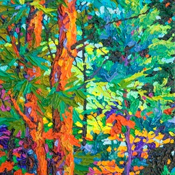 "Gaze - Vermilion Twilight  - 14"" x 11"""