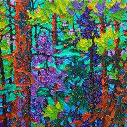 "Gaze - Viridian Night  - 11"" x 14"""