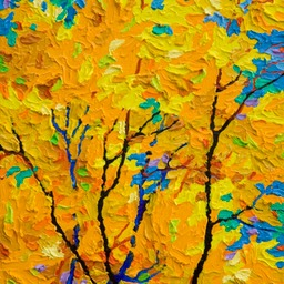 "Gem - Days of Indian Yellow I - 12"" x 9"""
