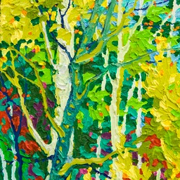 "Gem - Evening Aspens II- 12"" x 9"""