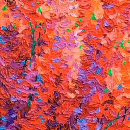 "Gem - Red Velvet Tree I  - 12"" x 9"""
