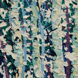 "Gem - Snow on Birches  - 12"" x 9"""