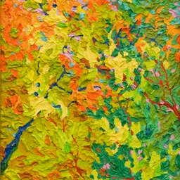 "Gem Dance of Leaves and LIght  - 9"" x 12"""