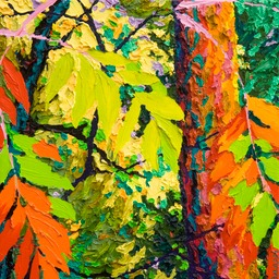 "Glimpse - Edge of the Forest II - 13"" x 13"""