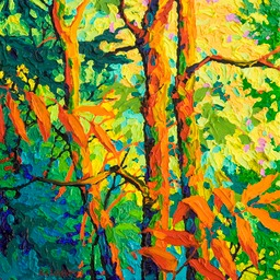 "Glimpse - Edge of the Forest V  - 13"" x 13"""