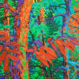"Glimpse - Edge of the Forest  I - 13"" x 13"""