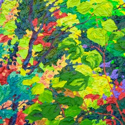 "Glimpse - Evening Song Lone Aspen - 13"" x 13"""