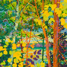 "Glimpse of Blue Lake I - 18"" x 24"""
