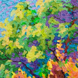 "Glimpse Rio Grande Cottonwood I - 13"" x 13"""