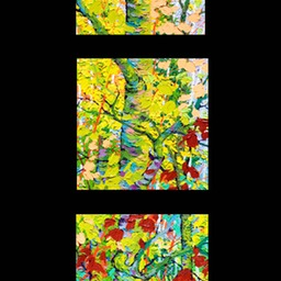 "Glimpse Shadow Mountain Triptych - 13"" x 13"" x 3"