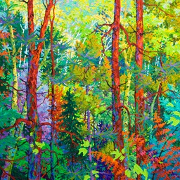 "Green Flight Three Pines  - 36"" x 36"""