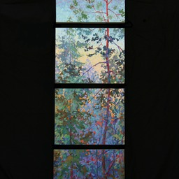"Evening Glimpses - Set of 4 - 12"" x 16"" Each"