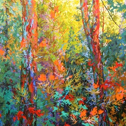 "Evening Pine Blossoms - 36"" x 46"""