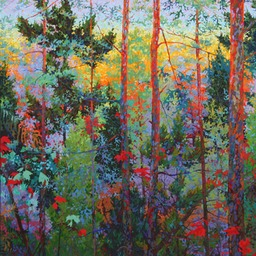 Dark Red Evening - 4ftx4ft