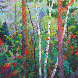 Three Birches 5 ft x 5 ft