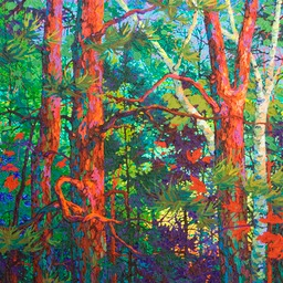 "In the Glow of Twilight  - 40"" x 40"""
