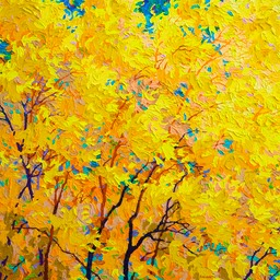 "Indian Yellow - 26"" x 26"""