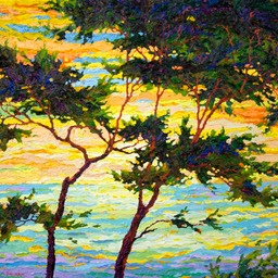 "Into the Sunset - 24"" x 26"""