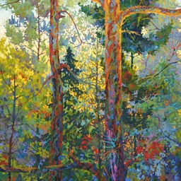 "Blue Undergrowth - 32"" x 44"""