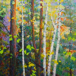 Lake Through the Trees II - 4ft x 4 ft
