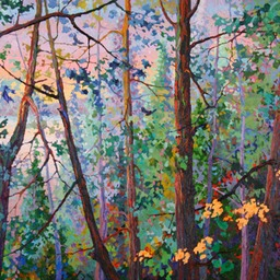"Lake Through the Trees - 52"" x 46"""