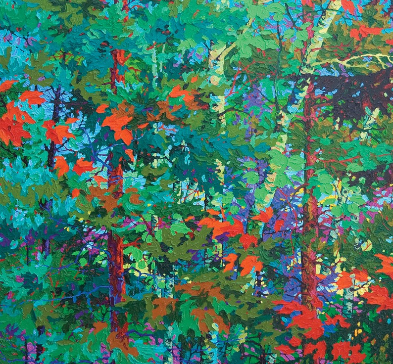 "Lambent Forest - 36"" x 36"""