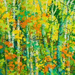 "Late Summer Aspens - 44"" x 30"""