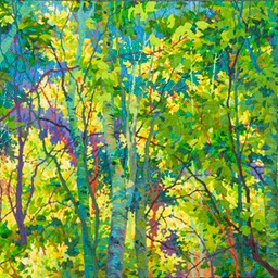 "Long Aspen Shadows - 46"" x 30"" Web"