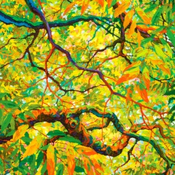 "Looking Up To Balaams Wood - 36"" x 24"""