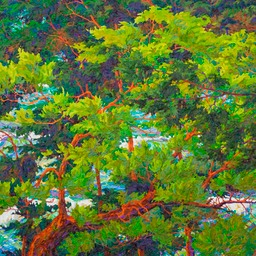 "Ocean Light Through the Trees IV - 46"" x 46"""