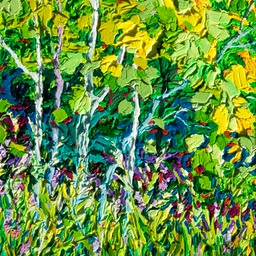 "On the Way to Slide Lake II - 14"" x 11"""