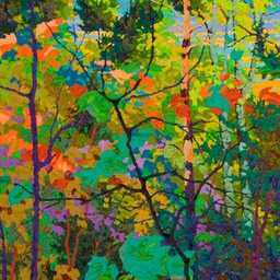 "Purple Shadows I  - 24"" x 24"""