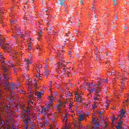 "Red Autumn - 36"" x 36"""