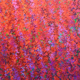 "Red Passion Tree - 46"" x 46"""