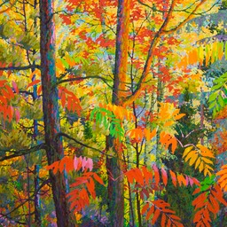 Red Sumac II  - 4ft x 4ft
