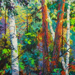 "Sunset Birches - 41"" x 53"""