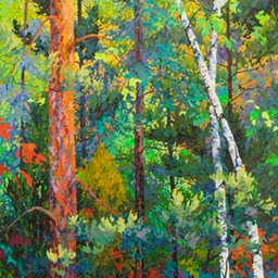 "Tall Birches II  - 36"" x 62"""