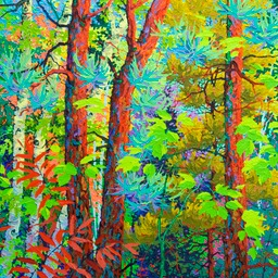 "Three Pines Green Flight - 36"" x 36"""